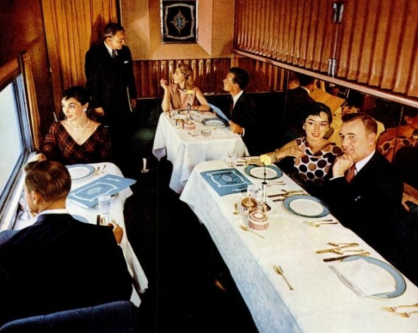 The Turquoise Room Aboard the Santa Fe Super Chief